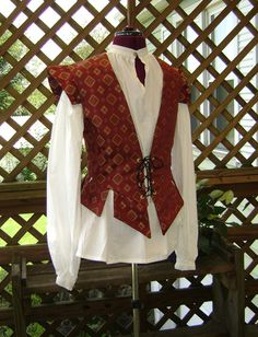 Red Diamond Renaissance Jerkin S Lg by historicaldesigns on Etsy, $75.00