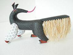 ANTEATER OAXACAN WOOD CARVING ALEBRIJE SCULPTURE MEXICAN FOLK ART