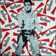 Elvis Presley Acrylic on canvas 100x100cm #Presley #painting #streetart #popart #marlboro #icons #usa #music #gallery #