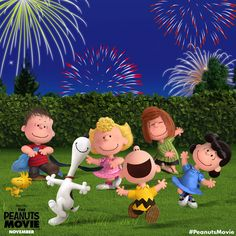 The Peanuts Movie gang wishes you a happy 4th of July filled with fun and fireworks!