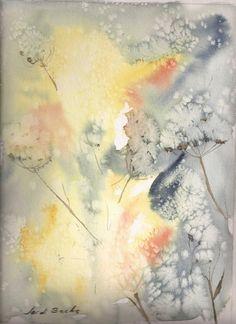 Fantasia floral en azul por Artbachs en Etsy, €27.90
