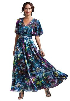 Cute Summer Outfits Plus Size | ... floral print plus size casual summer dresses for women, bigger size