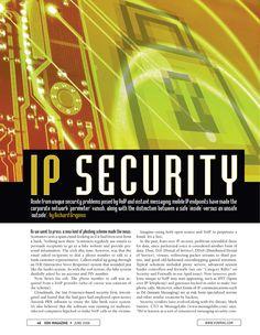 Security feature I designed for VON Magazine