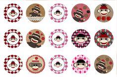 Free Sock Monkey BCI's Bottle cap images