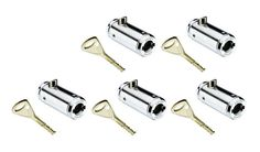 VENDING MACHINES LOCK AND KEY-KEYED DIFFERENT ORIGINAL ABLOY-Quantity 5 total