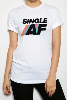 Single AF Crew Neck & V Neck T-Shirt – Shop BuzzFeed