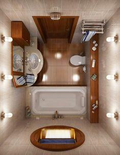 plan de petite salle de bain