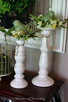 Chic on a Shoestring Decorating: Making a Bird's Nest with Flower Garland