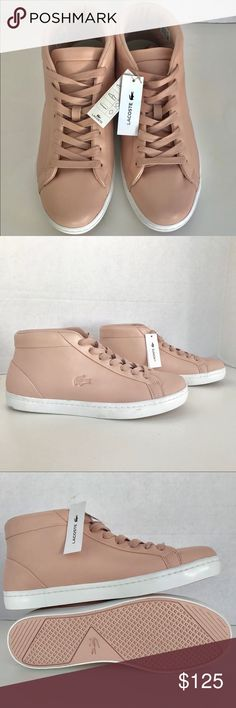 5b961a7909a956 🆕Lacoste Straightset Chukka Leather Sneakers Lace up Please see pictures  for more details. Thank you for looking Please check my other items for  sale ...