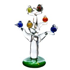 A sculpted crystal tree with birds approx in height, this is a prime example of the skill of the glass blowers at Irish Handmade Glass. Each piece is unique and therefore requires preorder. Crystal Tree, Glass Company, Tree Of Life, Wind Chimes, Sculpting, Ireland, Irish, Crystals, Unique