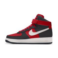 Sapatilhas personalizáveis Nike Air Force 1 High By You para homem Air Force 1 High, Nike Co, Nike Air Force Ones, Custom Shoes, Basketball Shoes, Ankle Strap, Air Jordans, Sneakers Nike, Leather