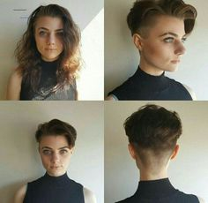 Tomboy Hairstyles, Cool Hairstyles, Girl Short Hair, Short Hair Cuts, Shot Hair Styles, Curly Hair Styles, Short Hair Undercut, Androgynous Hair, Girls Short Haircuts