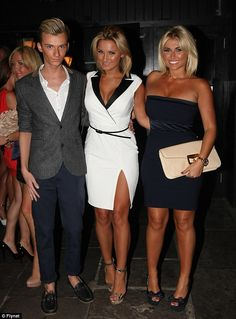 Old friends: Sam and Billie party at their old haunt with former TOWIE cast mate Harry Derbidge
