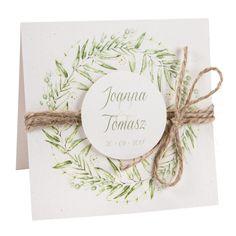 Zaproszenia-slubne-motyw-greenery (2) Wedding Invitations, Invites, Marriage, Place Card Holders, Boho, Weeding, Wedding Things, Wedding Dresses, Cards