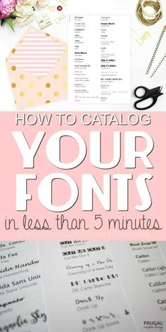 Do you have an amazing list of paid and font catalogs? No matter how many fonts you have, take a look at this list of free fonts and a tutorial for how to make a Creative Font Catalog in five minutes. How to print a list of fonts from your computer. DIY Font inspiration adult crafts, crafts for kids, vinyl crafts, graphic design and many other resources. Download fonts and print fonts in this step by step craft tutorial. #fonts #freefonts #frugalcouponliving #fontcatalog Cricut Monogram, Cricut Fonts, Free Fonts For Cricut, Cricut Stencils, Font Free, Inkscape Tutorials, Cricut Tutorials, Art Tutorials, Digital Marketing Strategy