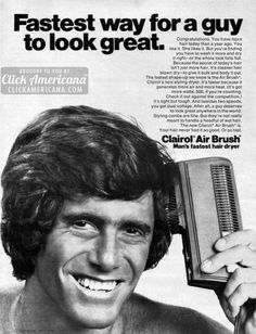 Not just more hair, guys – cleaner hair, blown dry (1971)