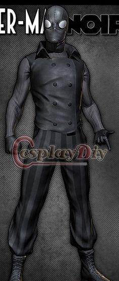 Free Shipping Custom Made Marvel Comics Spiderman Noir Jacket Costume Halloween…