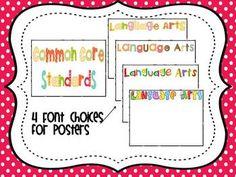 Common Core Standards Posters for First Grade - Deanna Jump - TeachersPayTeachers.com