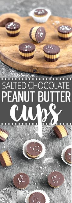 Super easy, no-bake Salted Chocolate Peanut Butter Cups made with only 4 ingredients: dark chocolate, peanut butter, coconut oil, and a sprinkle of sea salt. Chocolate Peanut Butter Cups, Salted Chocolate, Peanut Butter Recipes, Chocolate Peanuts, Chocolate Caramels, Chocolate Recipes, Candy Recipes, Baking Recipes, Dessert Recipes