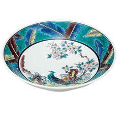 "Japanese drawn Ceramic Porcelain kutani ware. Dinnerware Serving bowl. Flower and bird."" Japanese ceramic Hagiyakiya K4-436 *** You can get additional details at the image link."