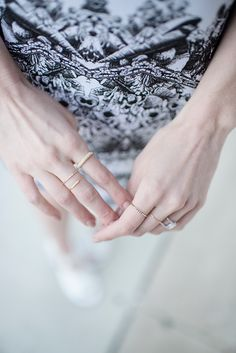 These covet rings are perfect for everyday wear! | Available at Johnson's Jewelers!
