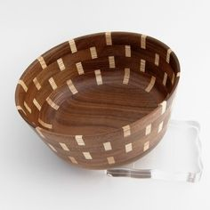 Segmented Bowl Walnut & Maple by GECKOWOODWORKING on Etsy, $40.00
