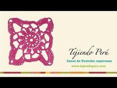 Motivo N° 3 cuadrado granny square en tejido crochet tutorial paso a paso. - YouTube Hairpin Lace, Crochet Videos, Crochet Granny, Crochet Earrings, Diy Crafts, Granny Squares, Bath, Tricot, Black Rug