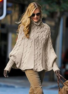 Poncho with sleeves from Bergere de France