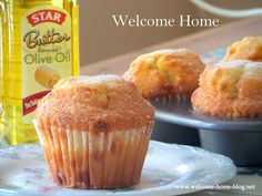 Welcome Home: Butter Rum Muffins with Cinnamon Chips