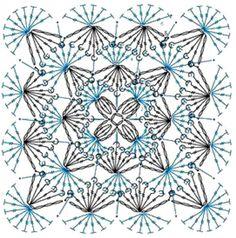 Crochet Blocks, Crochet Squares, Crochet Granny, Crochet Doilies, Crochet Flowers, Knit Crochet, Granny Squares, Crochet Thread Patterns, Crochet Stitches