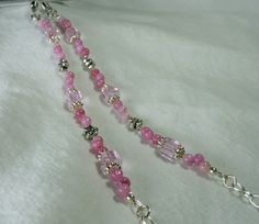 Pretty in Pink Eyeglass Chain by SaturdaySails on Etsy, $9.00