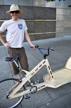 Open frame plywood bike