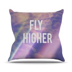 East Urban Home Fly Higher Outdoor Throw Pillow