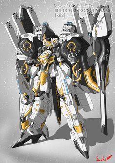Awesome Gundam Digital Artworks 'Right Click On Image To View Full Size, Select Open In New Window' VIEW PREVIOUS FAN-ARTS POSTINGS... Arte Robot, Robot Art, Robot Concept Art, Weapon Concept Art, Warframe Art, Futuristic Robot, Graffiti Doodles, Gundam Wallpapers, Arte Cyberpunk