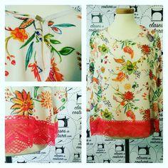 Narjiss ya puede lucir su nueva blusa primaveral con mucho orgullo, le ha quedado genial! #flores #blusa