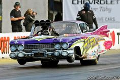 59 Cadillac Coup DE Ville Pro Mod These cars or so radical. Half the time they wreck as they can not keep the front wheels on the ground.