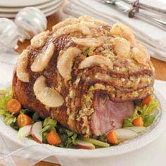 #tasteofhome #easterdinner  Waldorf Stuffed Ham