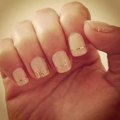 Cute nails with a touch of bling