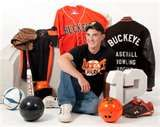 I would like to do this once a year and combine that years sports for the boys. sport senior pic idea