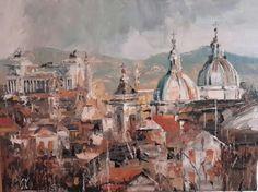 Roma, bella vista 60x80 olio su tela