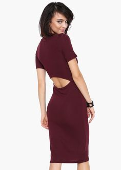 Olivia Sweater Dress in Burgundy | Necessary Clothing