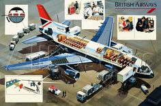 British Airways Lockheed L-1011 Tristar cutaway