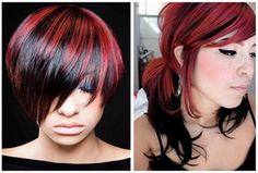 Some Red Hair Pictures With Black Highlights