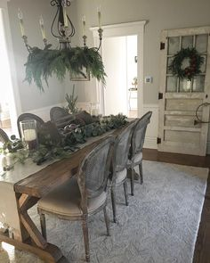 Farmhouse Table Decor Country Dining Room Kitchen Decoration