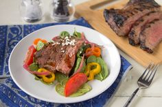 Balsamic-Marinated Flank Steak - This simple steak marinade imparts rich, bold vinegary flavor that seeps through the meat. Perfect for grilling!