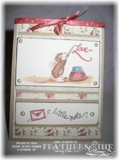 House Mouse Amanda Writes - EMGKD by feathers&ink - Cards and Paper Crafts at Splitcoaststampers House Mouse Stamps, Card Designs, Scrapbooking Ideas, Mice, Cardmaking, Feathers, Markers, Amanda, Card Ideas