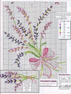 Lavender cross stitch