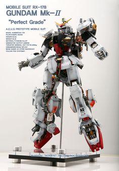 PG 1/60 RX-178 Gundam Mk-II AEUG Full Hatch Open Custom: Photo Review | GUNJAP