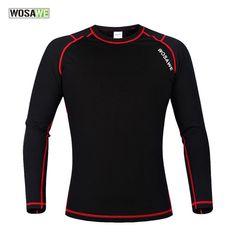2017 Jerseys Cycling Clothing Wosawe Men's Winter Warm Fleece Base Layer Sports Underwear Riding Cycling Undershirt Long Sleeve