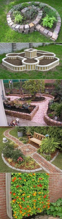 Landscape Garden Design Stoke On Trent, Large Raised Garden Bed Ideas + Succulent Garden Landscaping Pictures Home her Garden Landscape Ideas No Grass like Raised Garden Beds At Walmart Garden Borders, Garden Paths, Garden Pool, Herb Garden, Brick Garden, Roses Garden, Garden Stakes, Diy Garden, Vegetable Garden